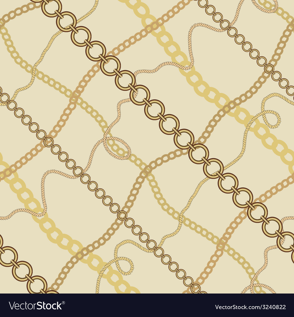 Seamless background with chains vector | Price: 1 Credit (USD $1)