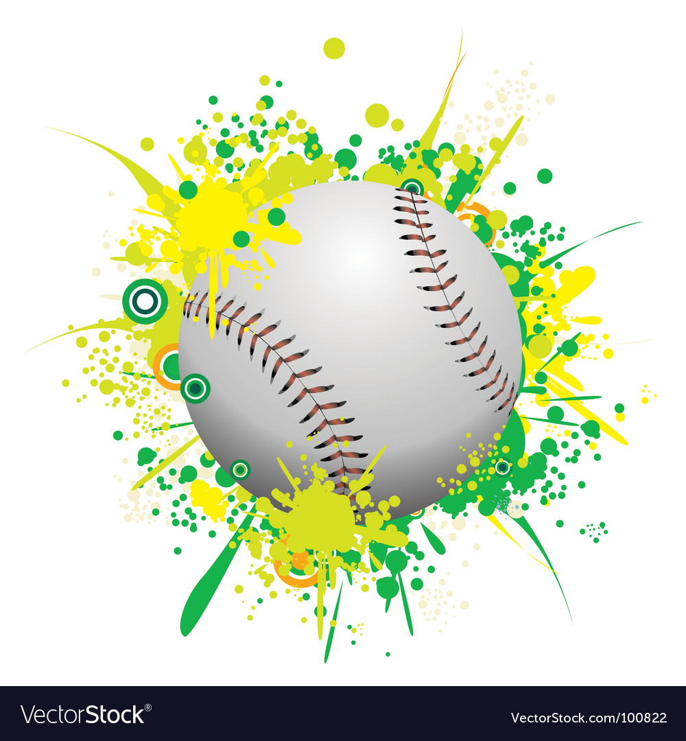 Splattered ball vector | Price: 1 Credit (USD $1)