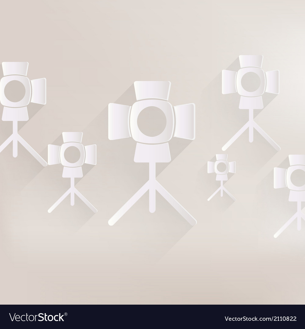 Spotlight icon light for photocamera vector | Price: 1 Credit (USD $1)