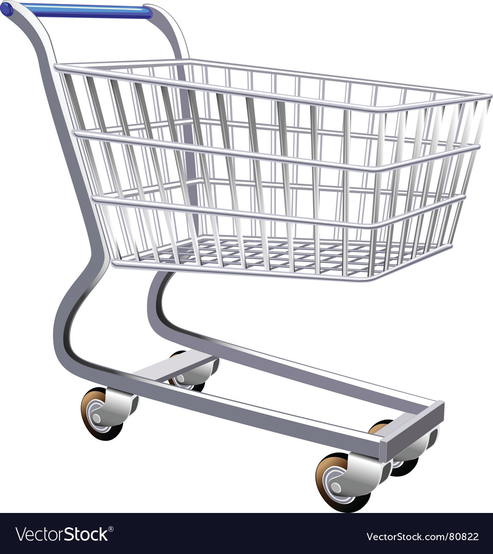 Stylized shopping cart vector | Price: 1 Credit (USD $1)