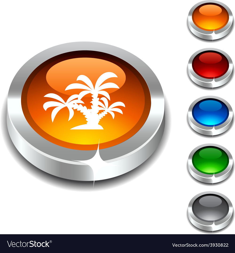 Tropical 3d button vector | Price: 1 Credit (USD $1)