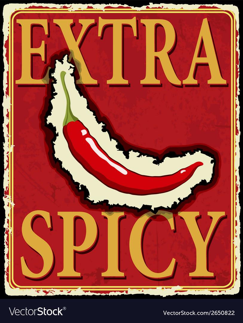 Vintage extra spicy poster vector | Price: 1 Credit (USD $1)