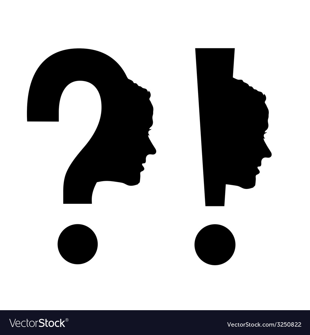 Woman head with question mark vector | Price: 1 Credit (USD $1)