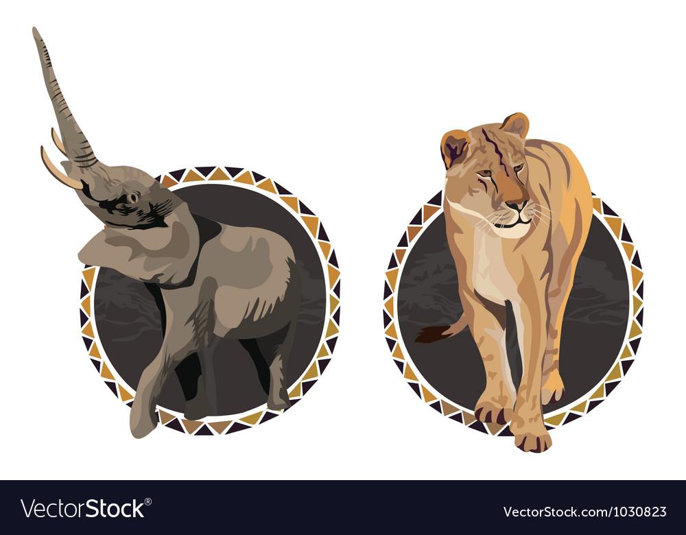 Africa wildlife culture vector | Price: 1 Credit (USD $1)