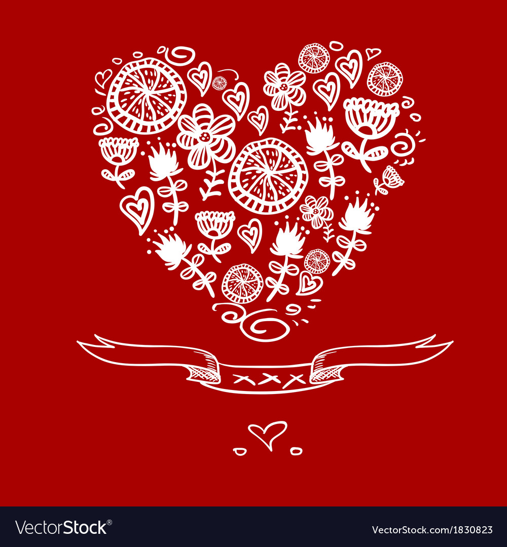 Cartoon hearts background vector   Price: 1 Credit (USD $1)