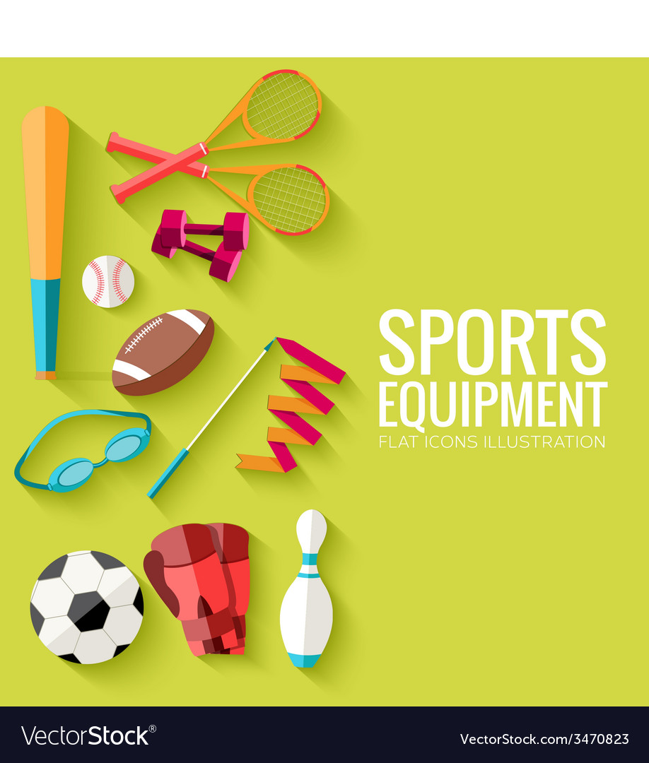 Circular concept of sports equipment sticker vector   Price: 1 Credit (USD $1)