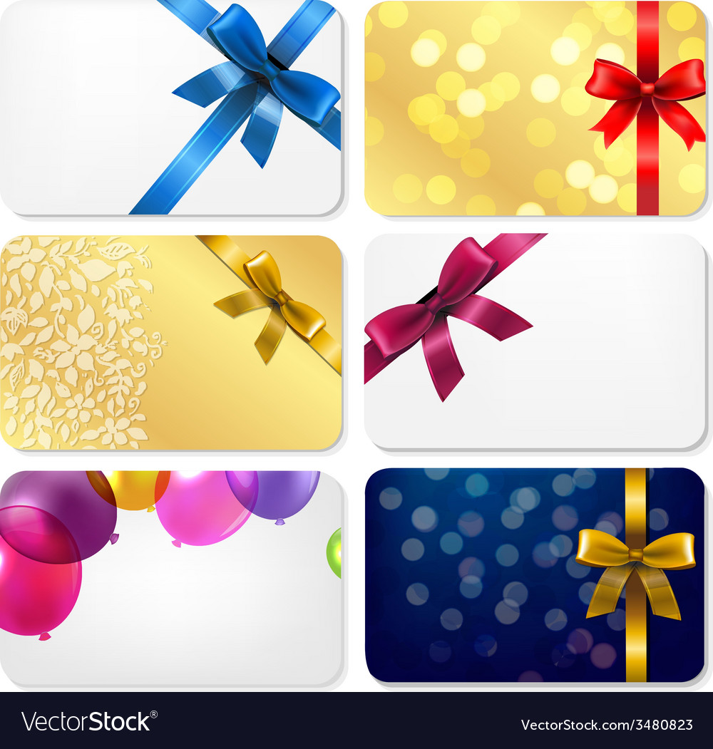 Gift cards big set vector   Price: 1 Credit (USD $1)