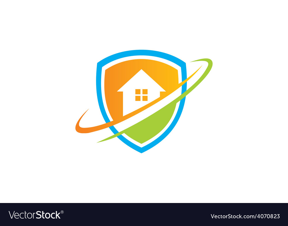 Home shield protection logo vector | Price: 1 Credit (USD $1)