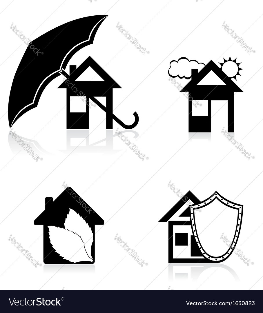 House concept black and white vector | Price: 1 Credit (USD $1)