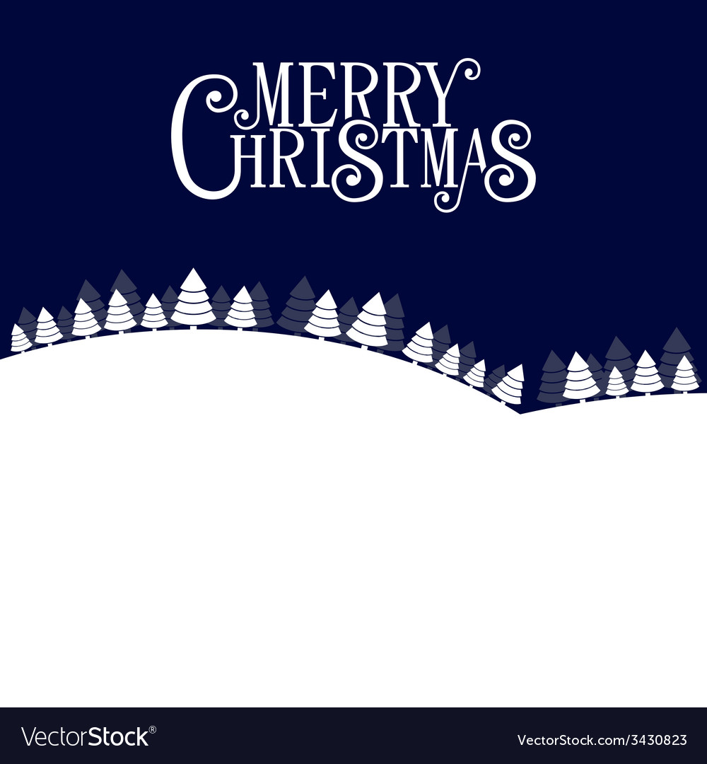 Merry christmas landscape forest background vector | Price: 1 Credit (USD $1)