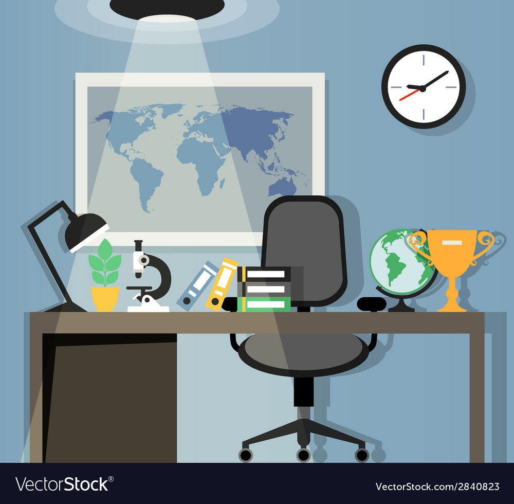 Office workplace design vector | Price: 1 Credit (USD $1)