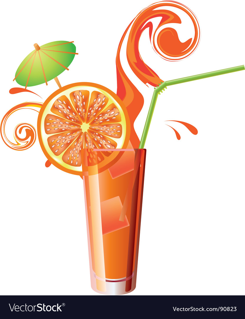 Orange juice vector | Price: 1 Credit (USD $1)