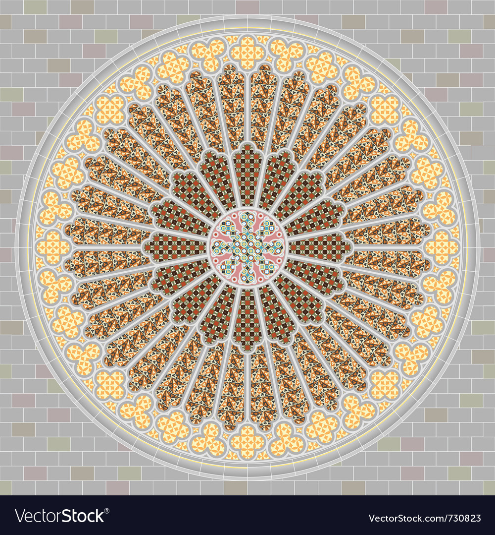 Rose window vector | Price: 1 Credit (USD $1)