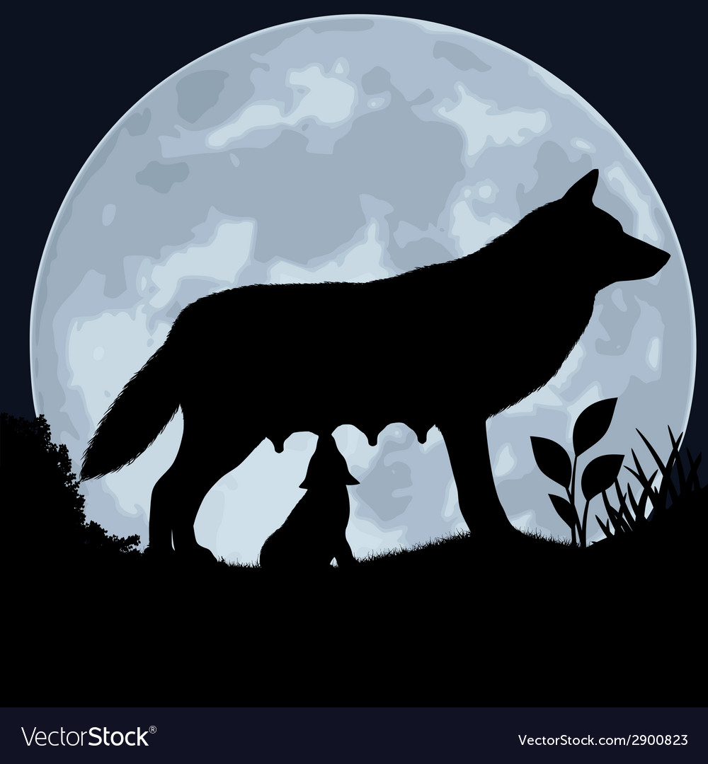 She-wolf vector | Price: 1 Credit (USD $1)
