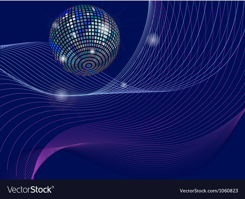 Silver disco mirror ball background vector | Price: 1 Credit (USD $1)