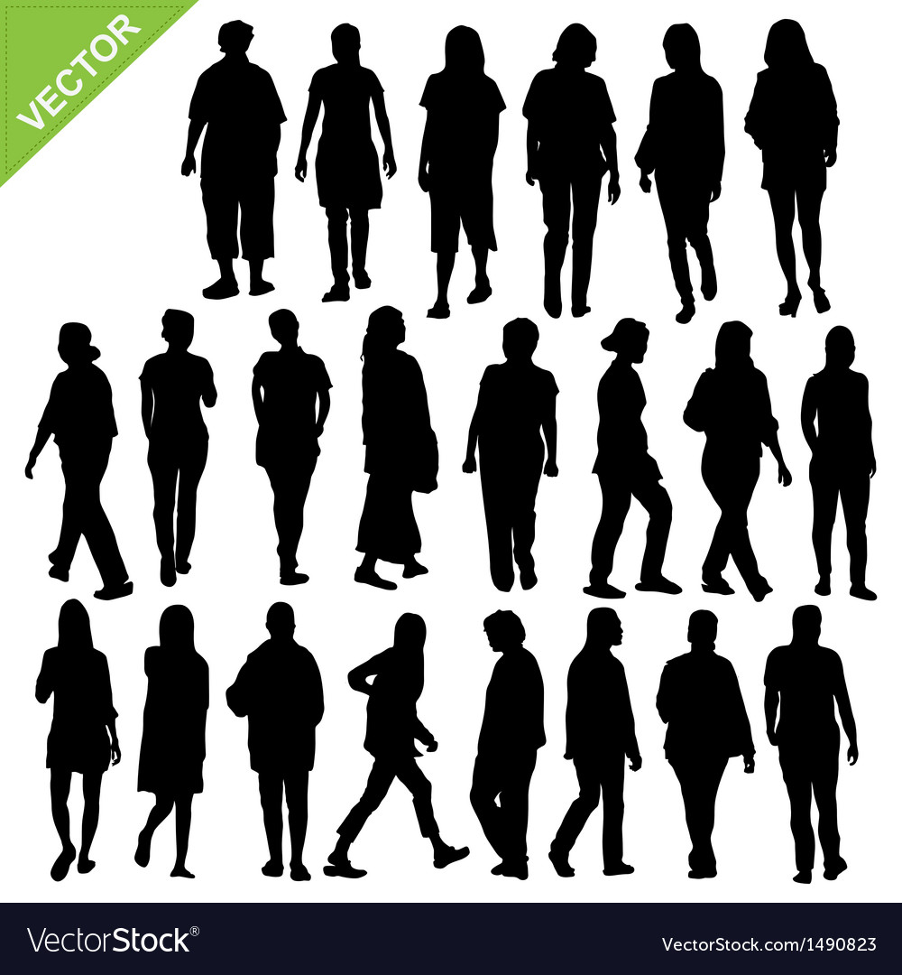 Women silhouette vector | Price: 1 Credit (USD $1)