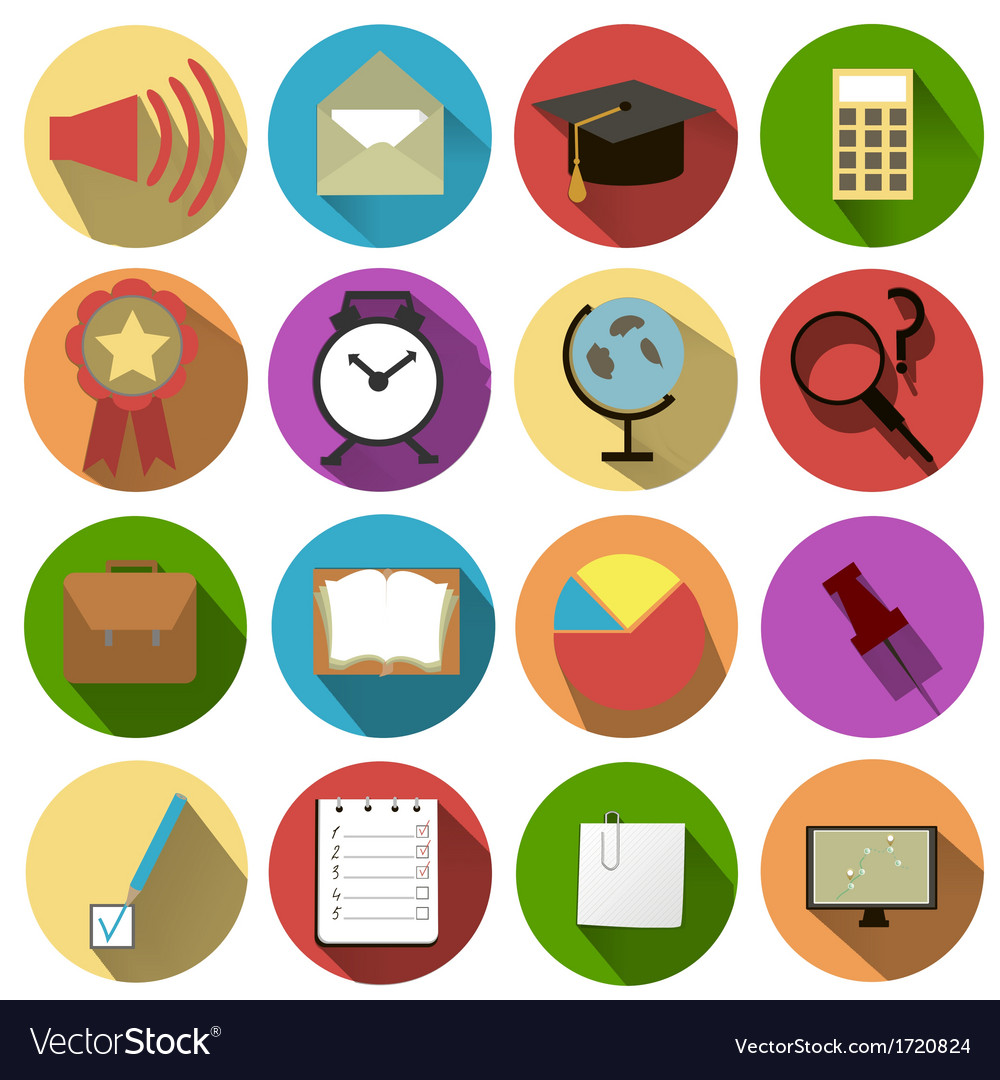 Business and school of icons vector | Price: 1 Credit (USD $1)