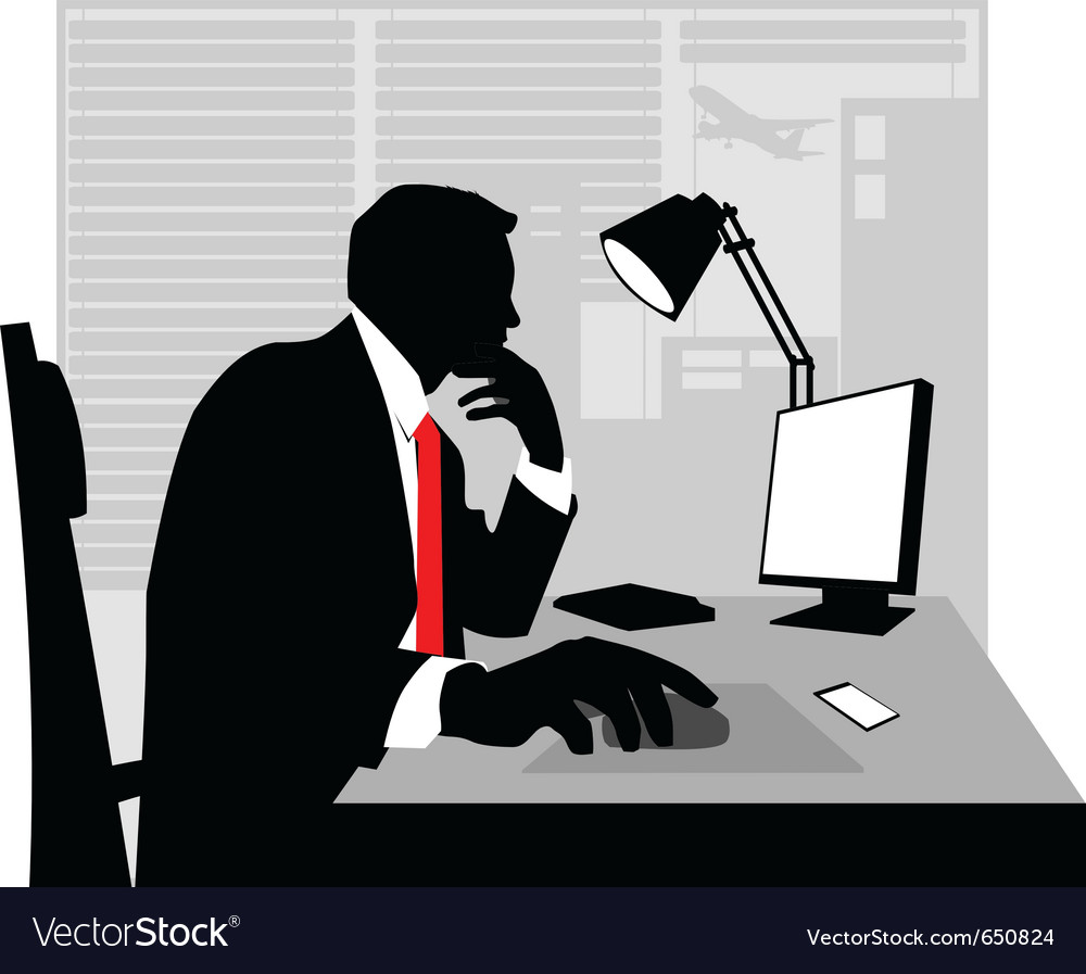Businessman silhouette vector | Price: 1 Credit (USD $1)