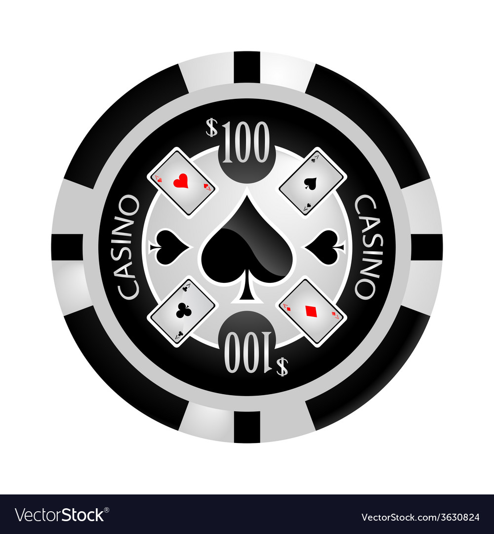 Casino poker chip vector | Price: 1 Credit (USD $1)