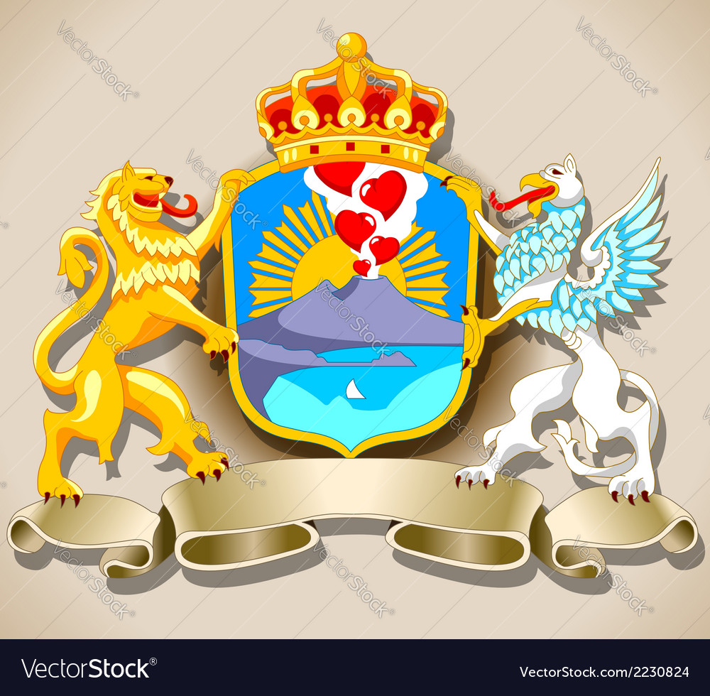 Coat of arm of naples vector | Price: 1 Credit (USD $1)