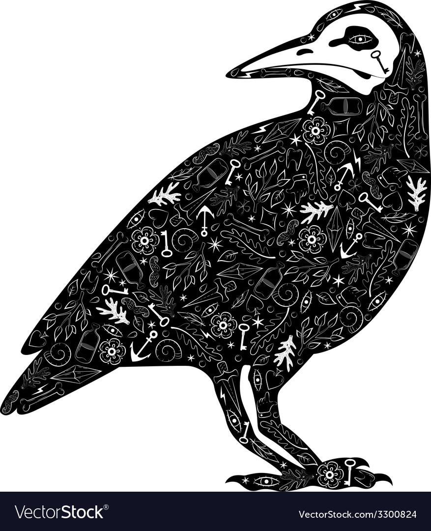 Crow tattoo vector | Price: 1 Credit (USD $1)
