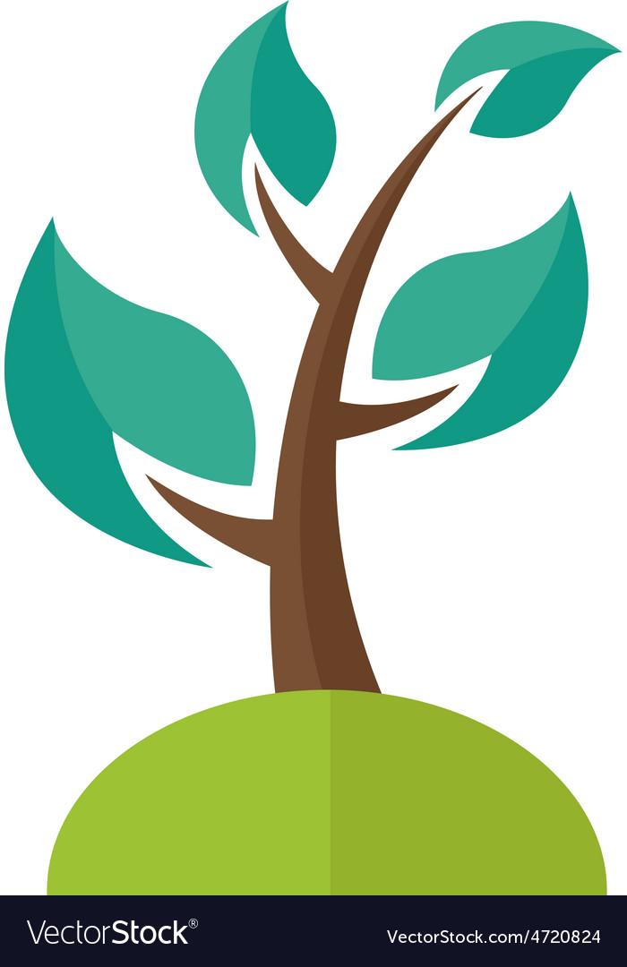 Ecology tree vector | Price: 1 Credit (USD $1)