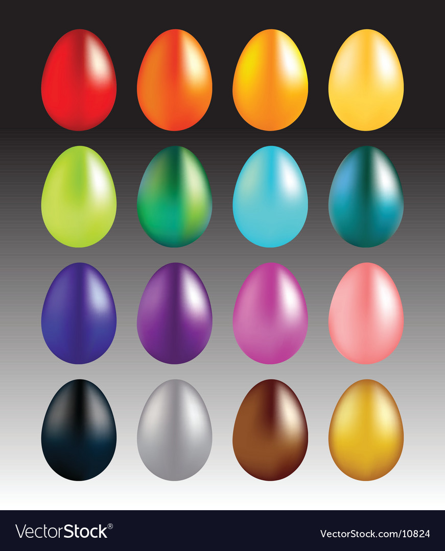 Gradient mesh easter eggs vector | Price: 1 Credit (USD $1)