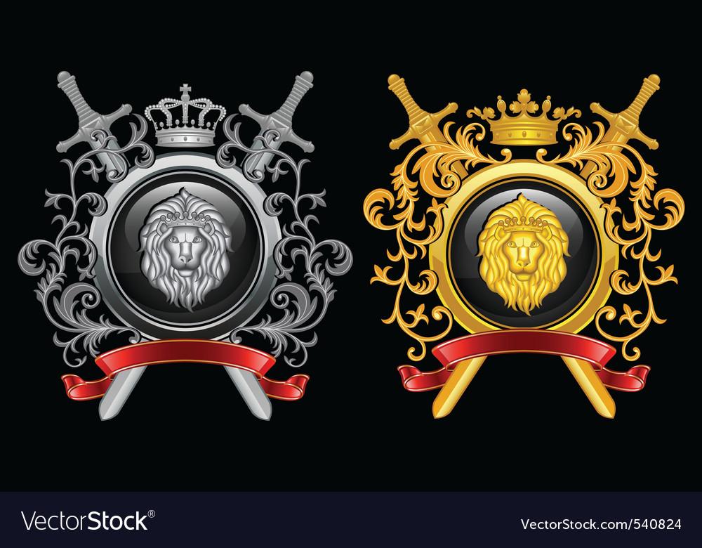Heraldry coat of arms vector | Price: 3 Credit (USD $3)