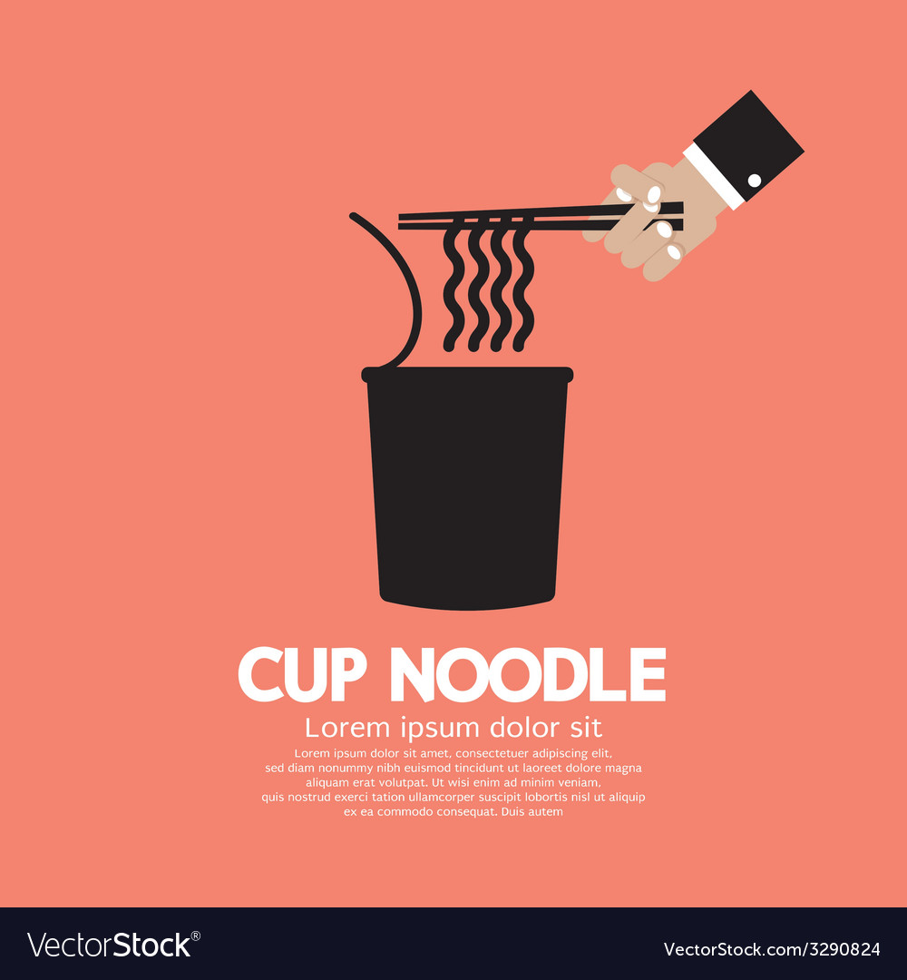 Instant cup noodle vector | Price: 1 Credit (USD $1)