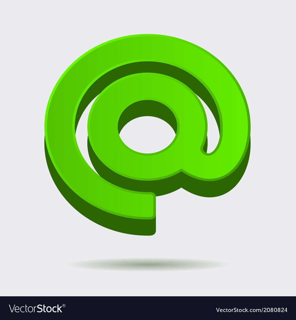 Mail dog abstract symbol in 3d style vector | Price: 1 Credit (USD $1)