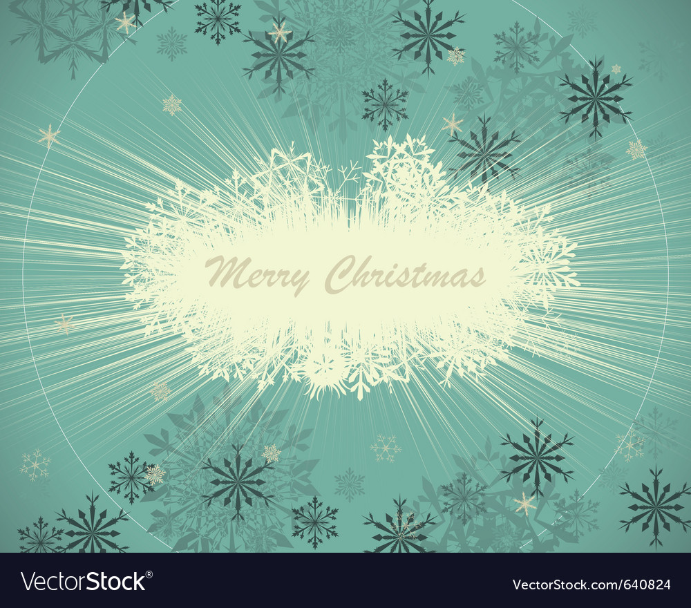 Vintage retro christmas card vector | Price: 1 Credit (USD $1)