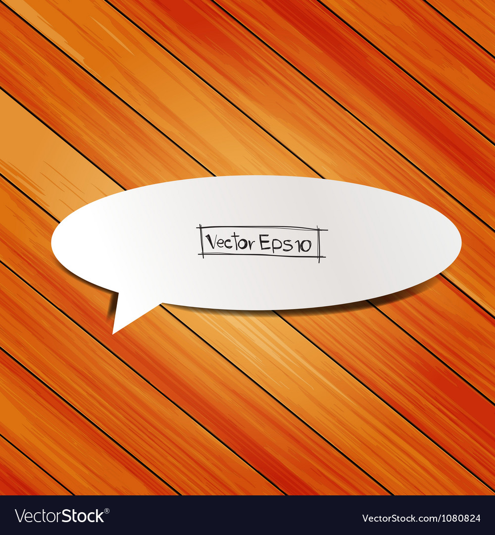Wooden background with speech bubbles paper stick vector | Price: 1 Credit (USD $1)