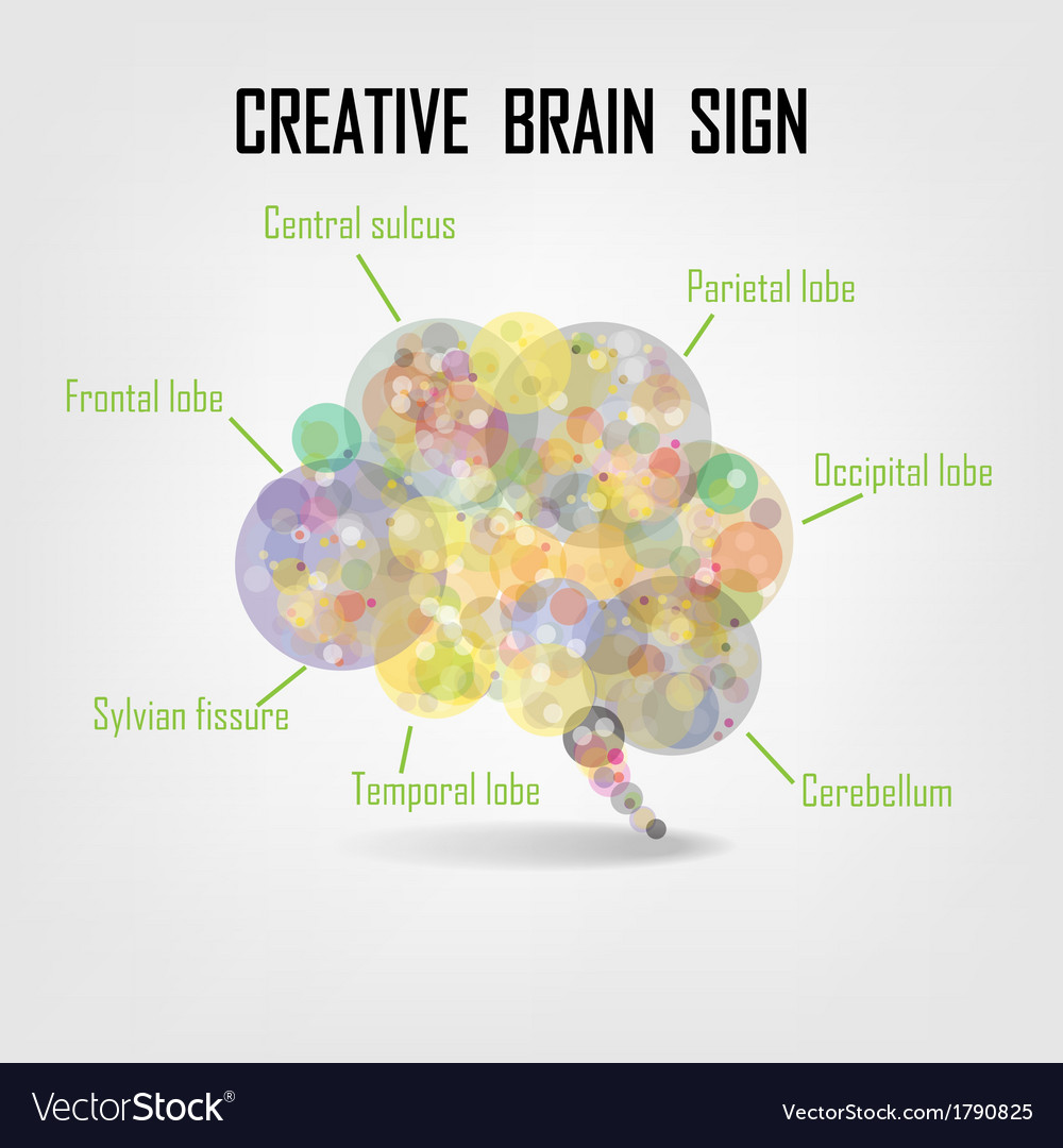 Creative brain idea vector | Price: 1 Credit (USD $1)