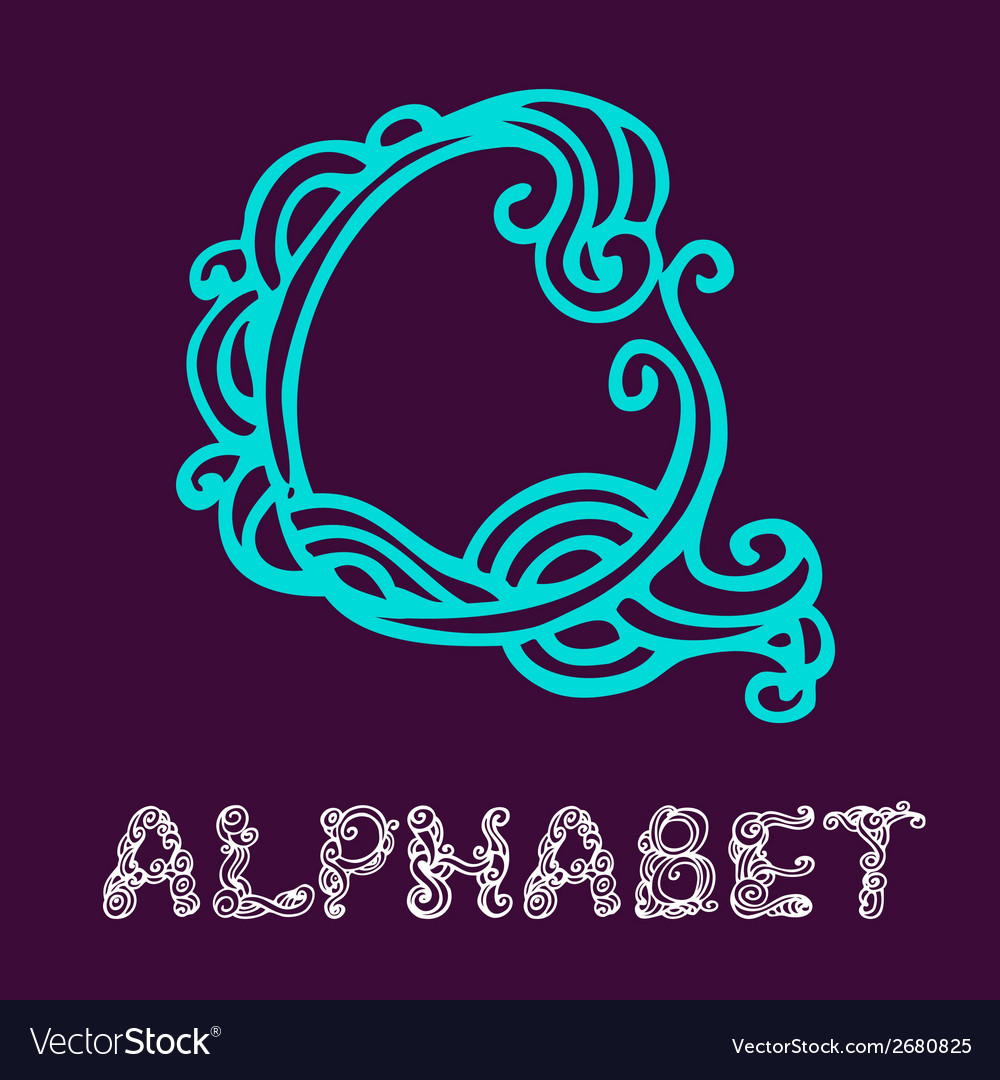 Doodle hand drawn sketch alphabet letter q vector | Price: 1 Credit (USD $1)