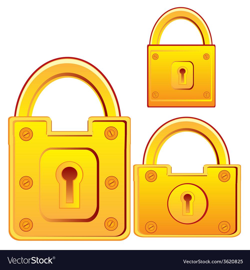 Door lock from gild vector | Price: 1 Credit (USD $1)