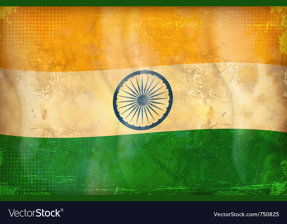 Grunge flag - india vector | Price: 1 Credit (USD $1)