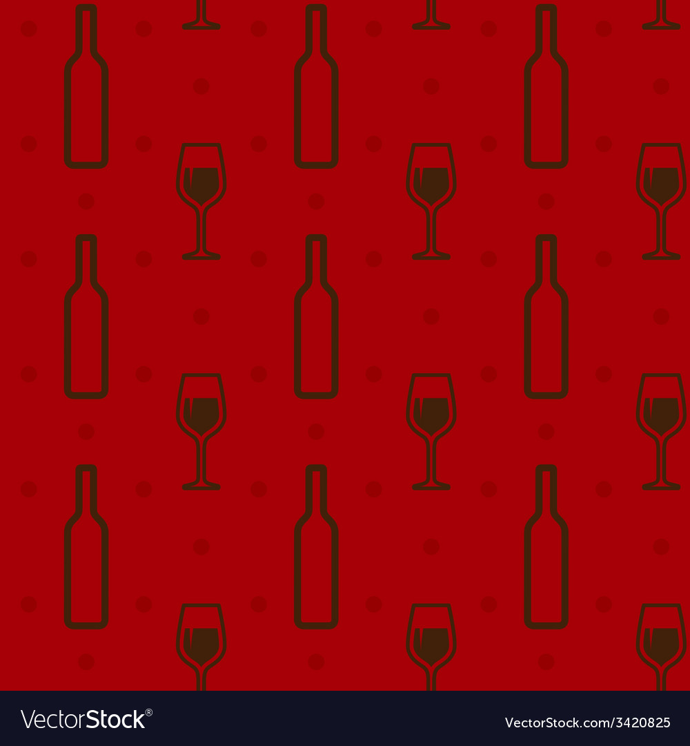 Seamless background with wine bottles and vector | Price: 1 Credit (USD $1)