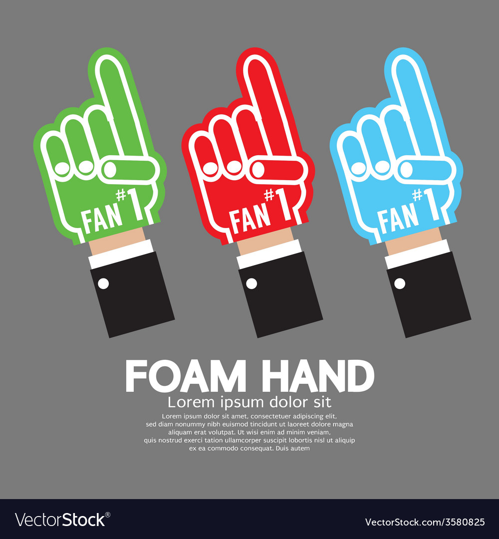 Set of foam hand vector