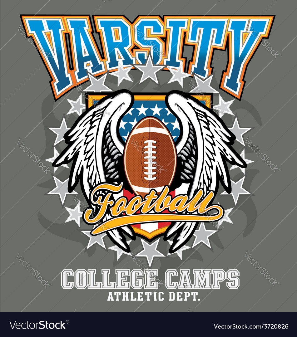 American football college vector | Price: 3 Credit (USD $3)
