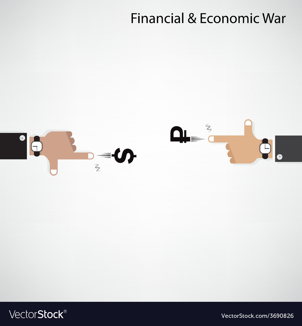 Businessman hand shooting financial or economic wa vector | Price: 1 Credit (USD $1)