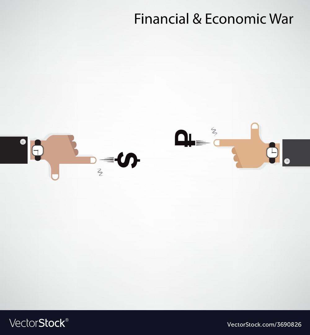Businessman hand shooting financial or economic wa vector | Price: 1 Credit (USD $1)