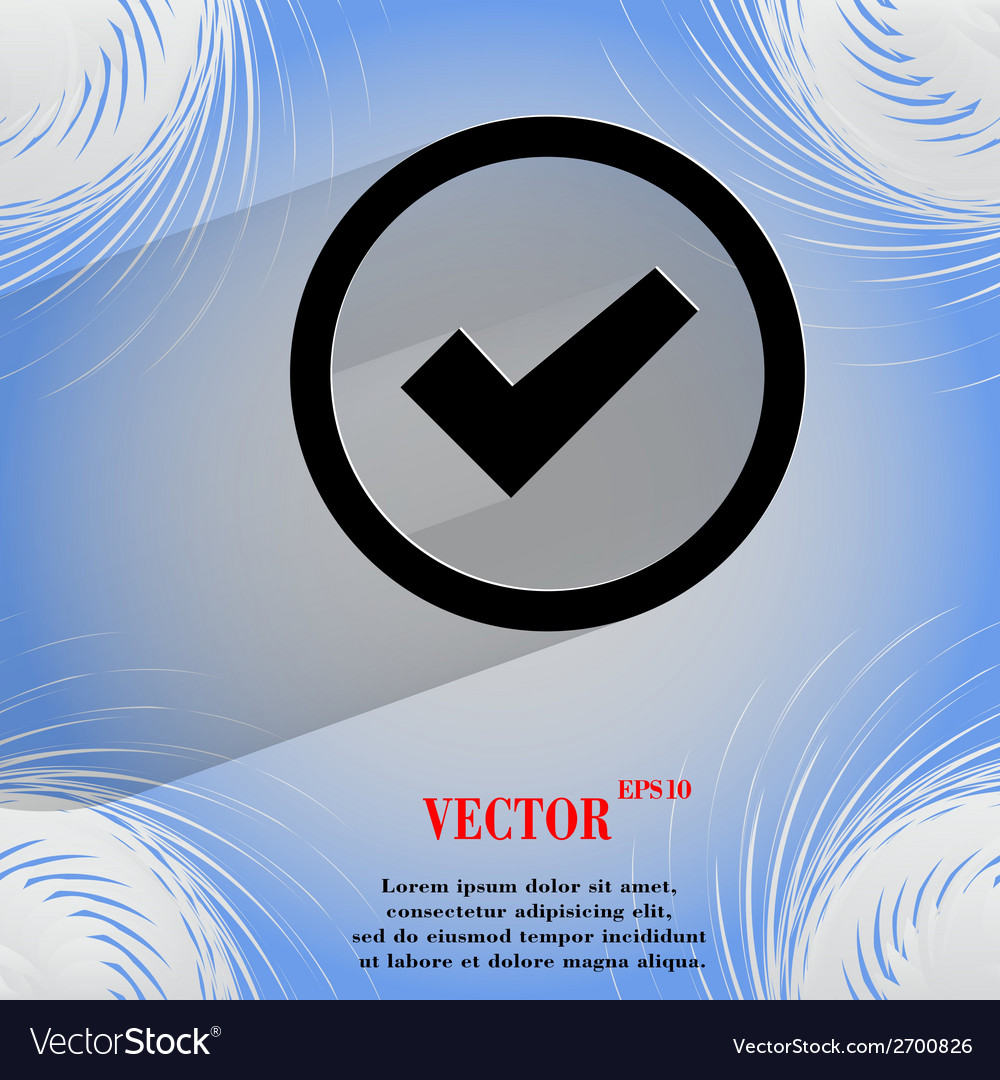Check mark flat modern web design on a flat vector | Price: 1 Credit (USD $1)