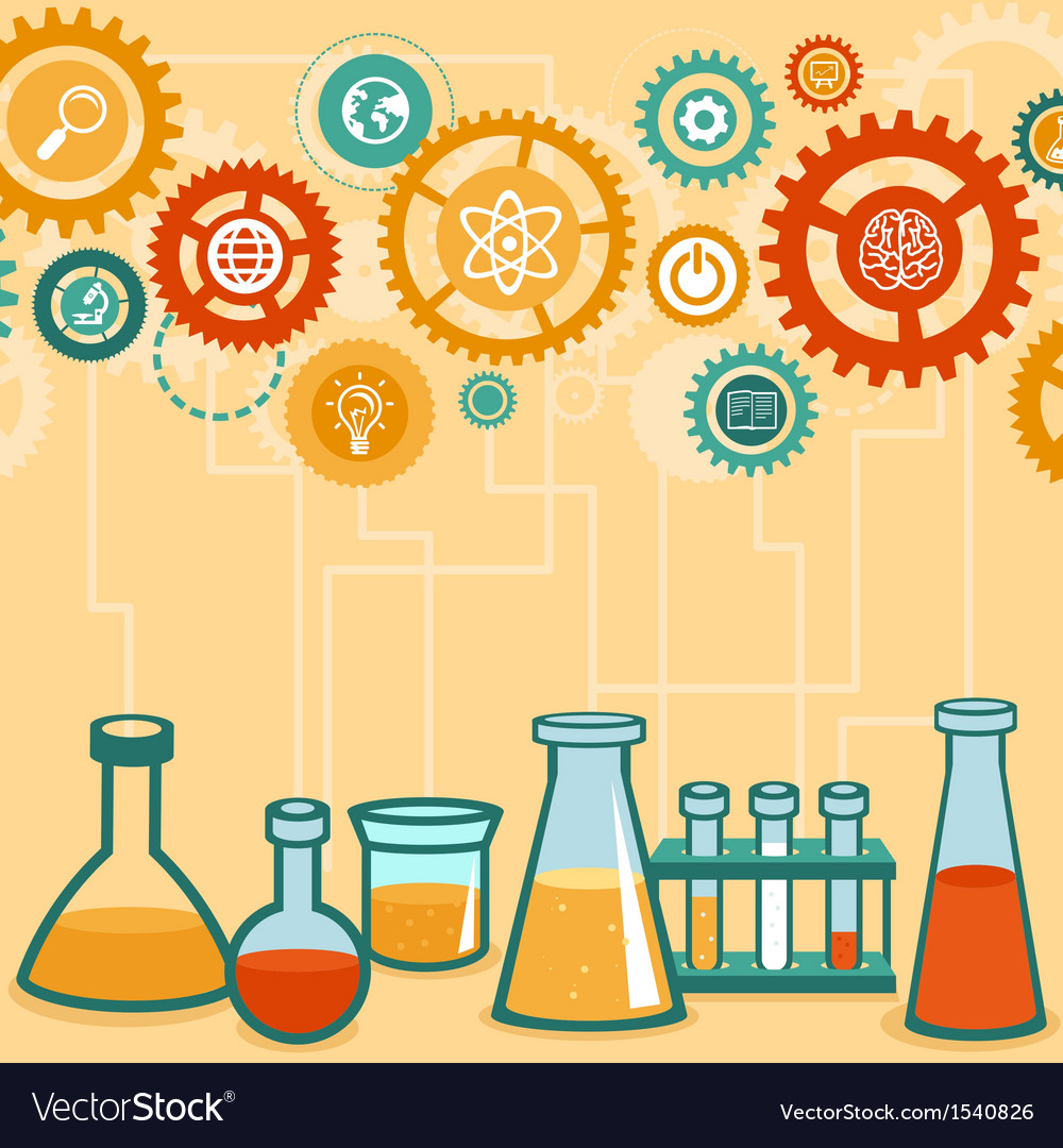 Chemistry and science research vector | Price: 1 Credit (USD $1)