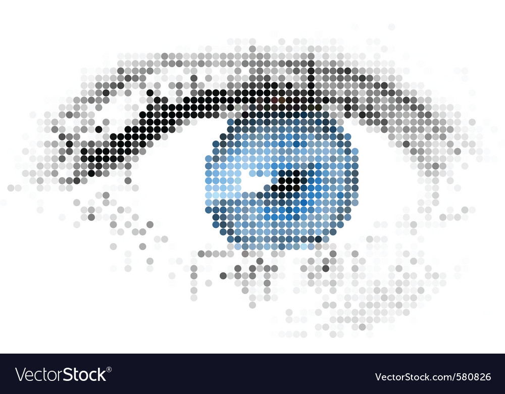 Digital eye vector | Price: 1 Credit (USD $1)