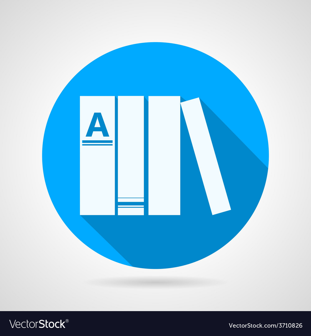 Flat round icon for books vector | Price: 1 Credit (USD $1)
