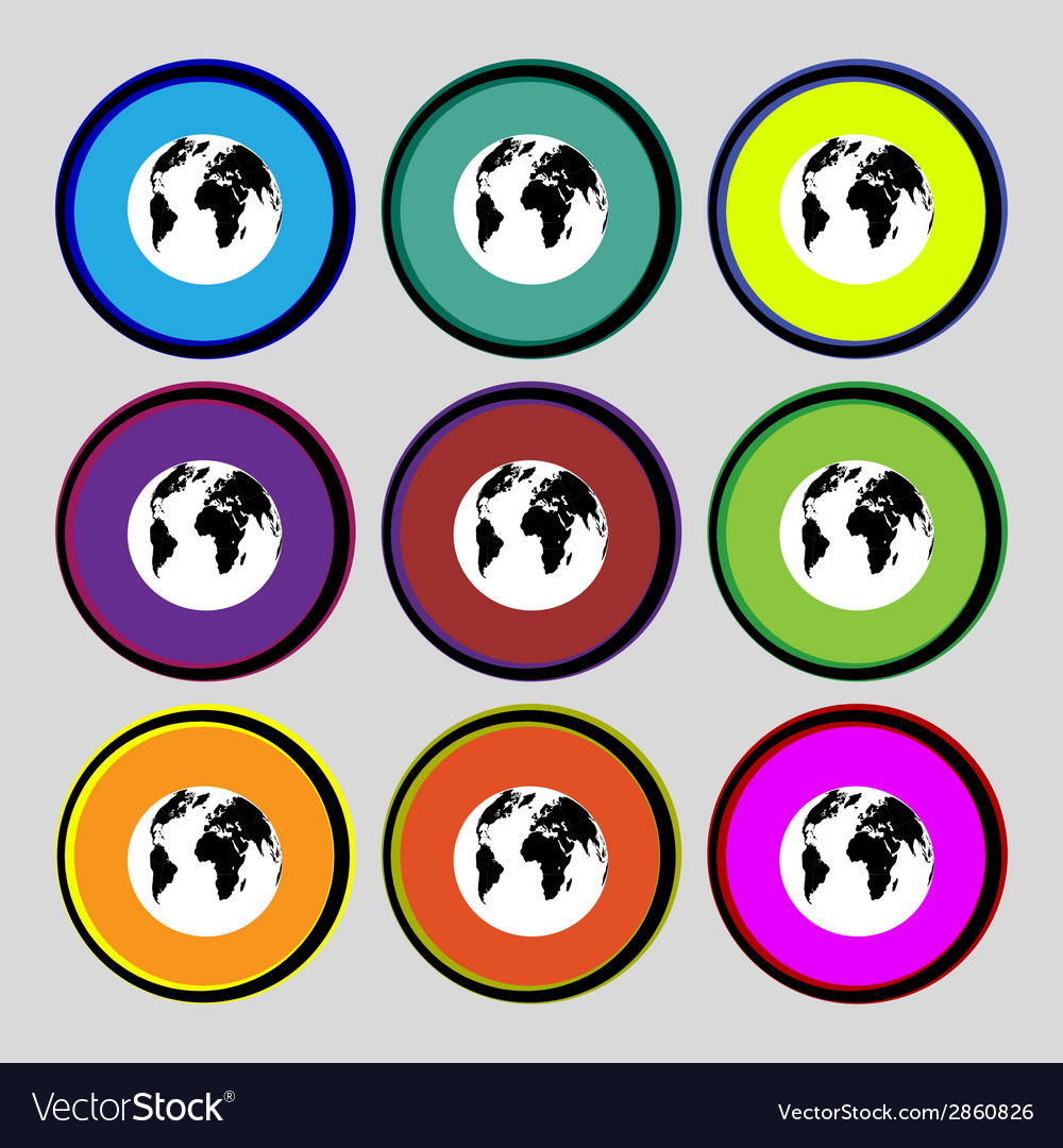 Globe sign icon world map geography symbol set vector   Price: 1 Credit (USD $1)