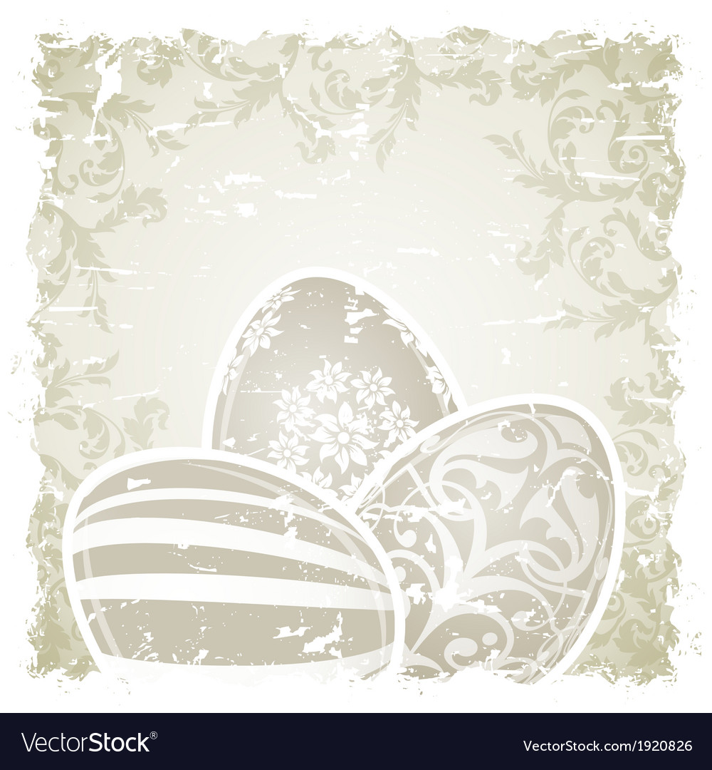 Grungy easter background vector | Price: 1 Credit (USD $1)