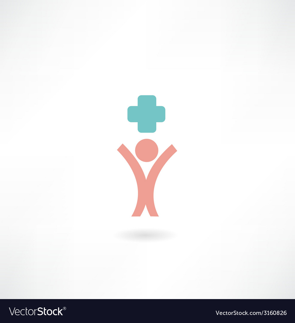 Man medic icon vector | Price: 1 Credit (USD $1)