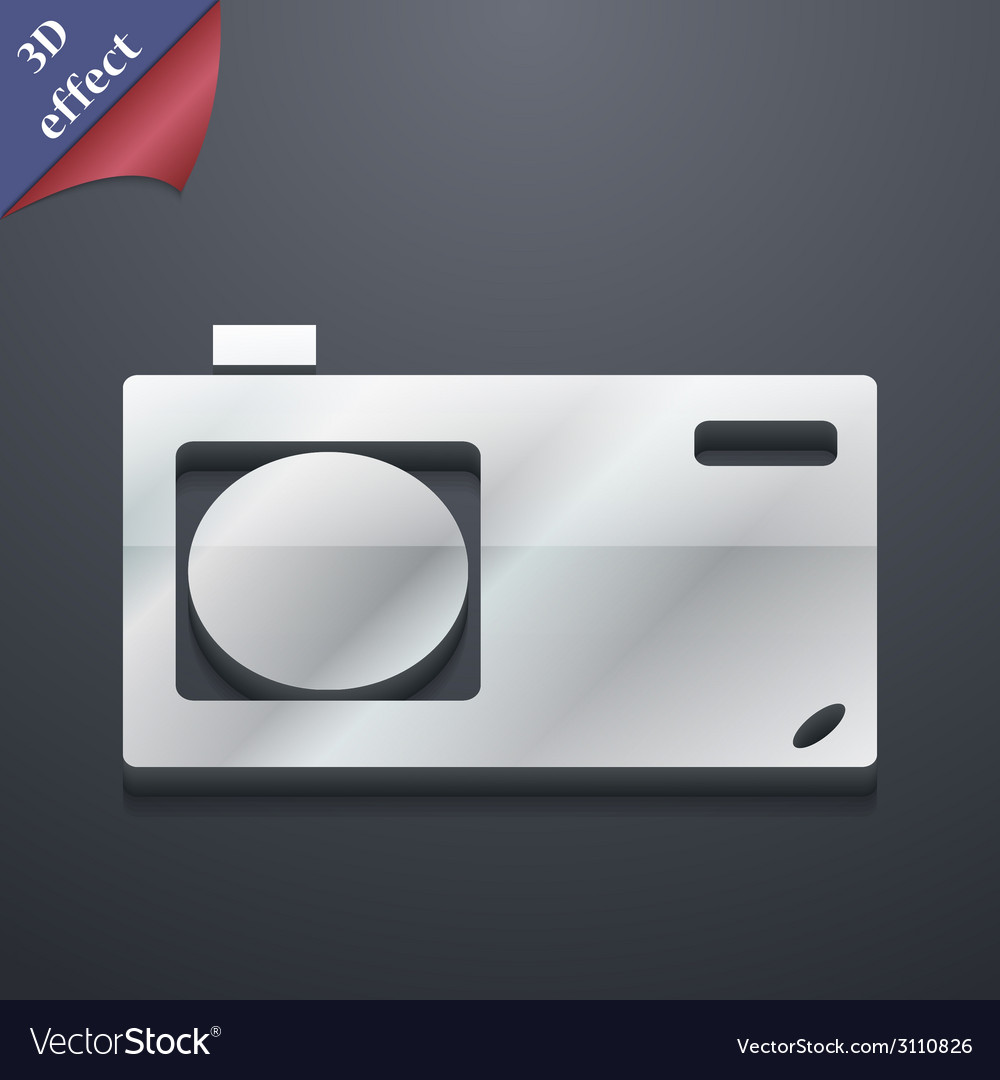 Photo camera icon symbol 3d style trendy modern vector | Price: 1 Credit (USD $1)