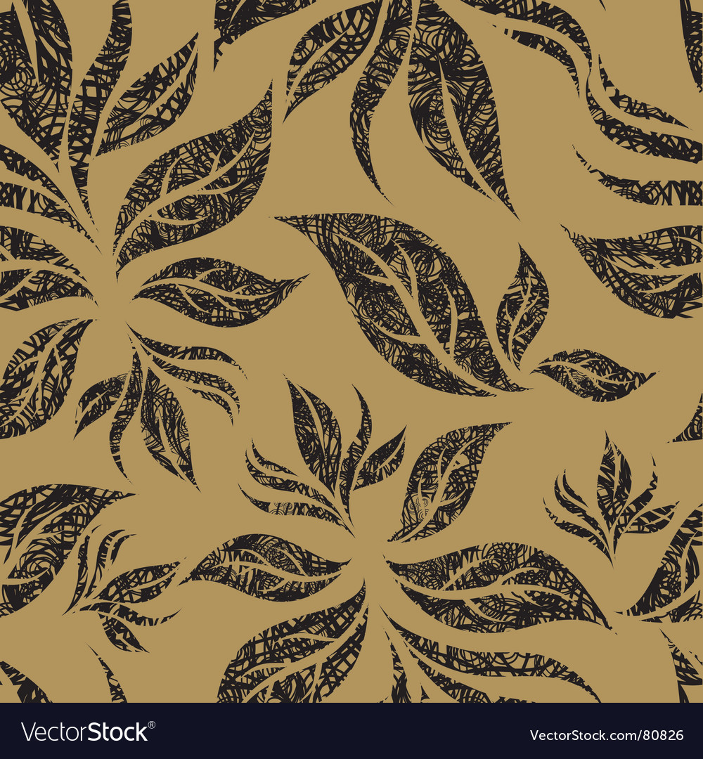 Seamless beige floral pattern vector | Price: 1 Credit (USD $1)